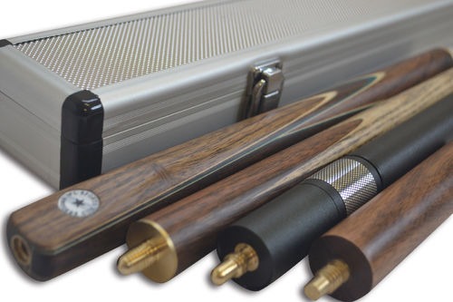 Handmade 3/4 Piece 57 Inch Ash Snooker Cue Complete Set with Quality Case and Telescopic Extension