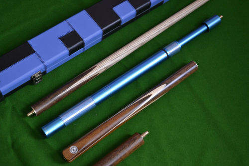 Handmade 3/4 Piece 57 Inch Ash Snooker/Pool Cue Complete Set -Case/Extension/Rosewood Butt