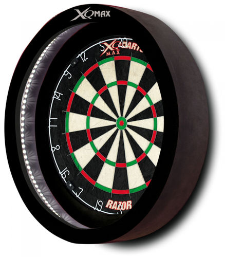 XQMax Sirius 6.0 LED Darts Surround with USB Lighting System in Black