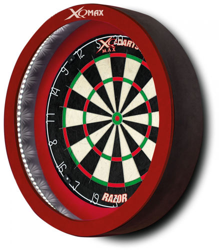 XQMax Sirius 6.0 LED Darts Surround with USB Lighting System in Red