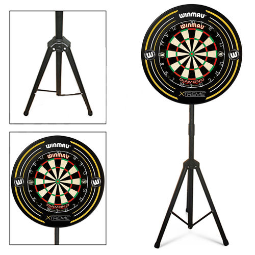 Darts Set with Portable Stand - Winmau Diamond Dartboard and a Surround