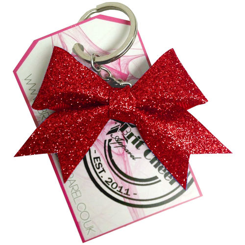All Glitter Red Dinky Bow Key Ring