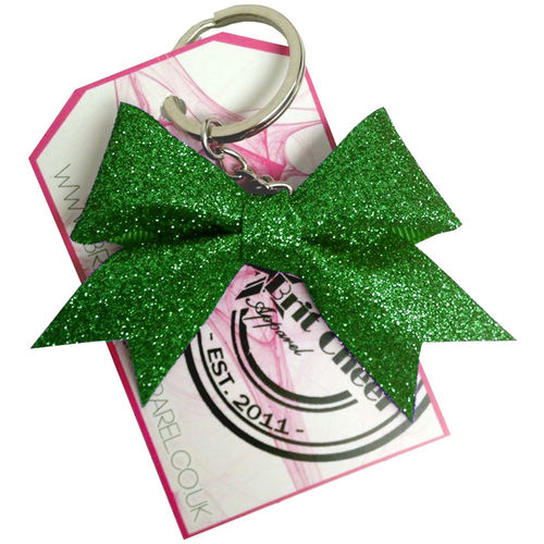 All Glitter Green Dinky Bow Key Ring