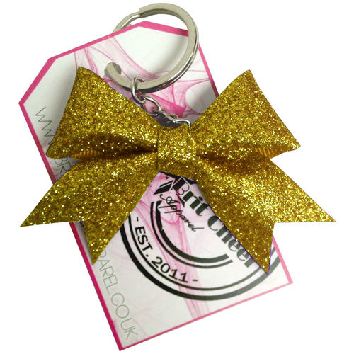 All Glitter Gold Dinky Bow Key Ring
