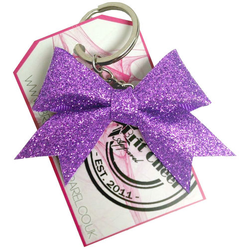 All Glitter Lilac Dinky Bow Key Ring