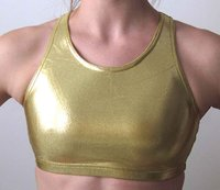 Metallic Gold Crop Top