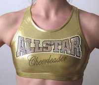 Metallic Gold ALLSTAR Crop Top
