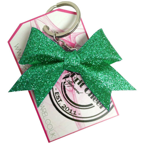 All Glitter Jade Dinky Bow Key Ring