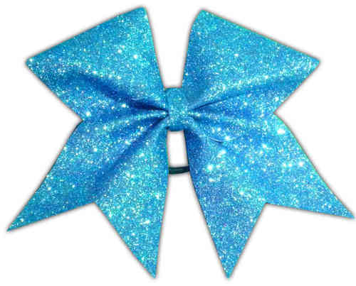 All Glitter Turquoise Training Bow