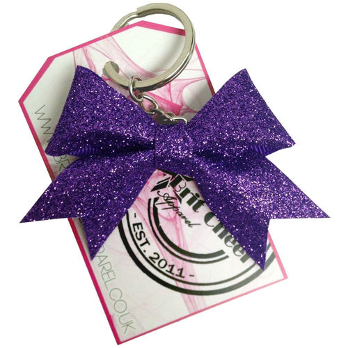 All Glitter Purple Dinky Bow Key Ring