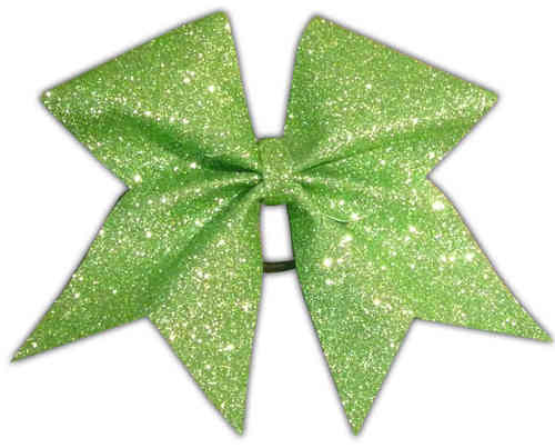 All Glitter Lime Training Bow