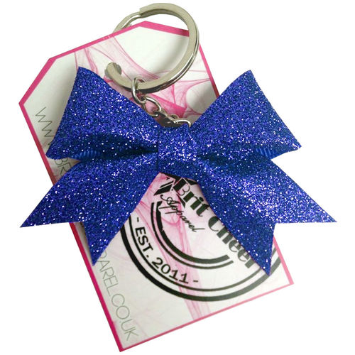 All Glitter Royal Blue Dinky Bow Key Ring