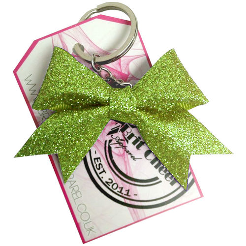 All Glitter Lime Dinky Bow Key Ring