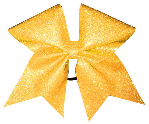 All Glitter Neon Orange Training Bow