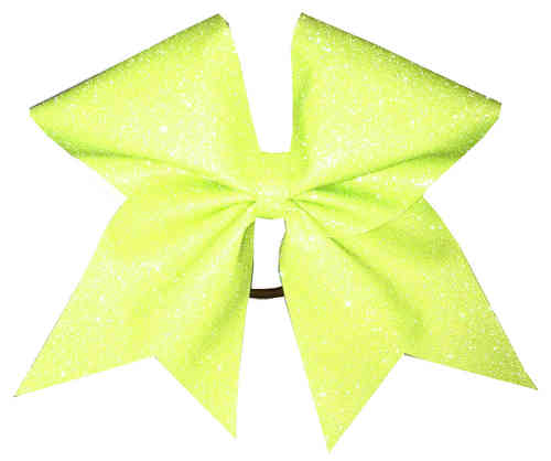 All Glitter Neon Yellow Training Bow