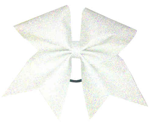 All Glitter Holographic White Training Bow