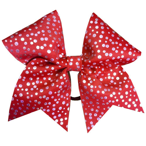 Red Shimmer Dot Training Bow