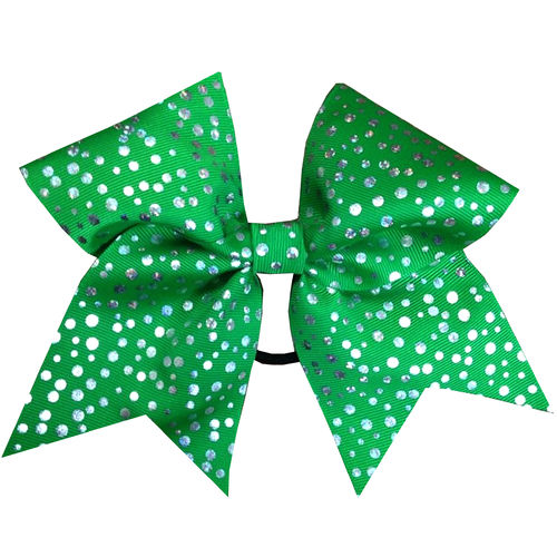 Classic Green Shimmer Dot Training Bow