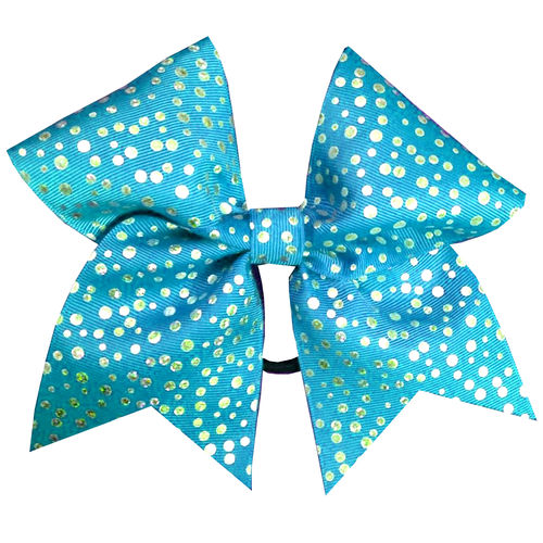 Turquoise Shimmer Dot Training Bow