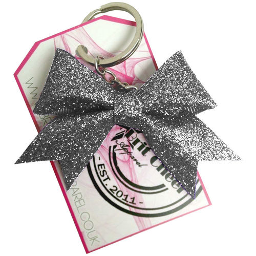 All Glitter Steel Dinky Bow Key Ring