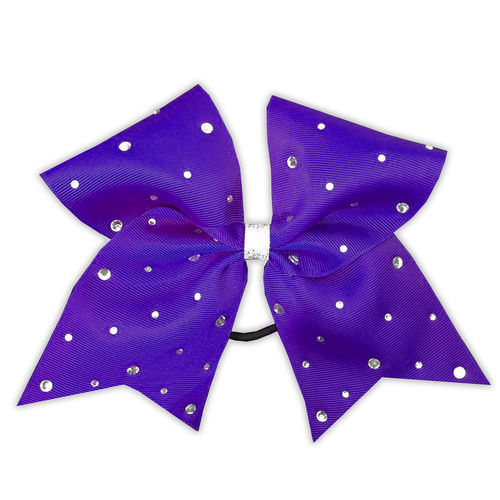Grosgrain Purple Rhinestone Bow