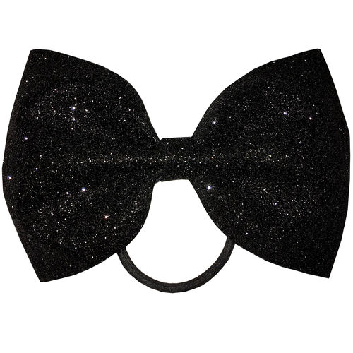 Tailless Glitter Bow Black