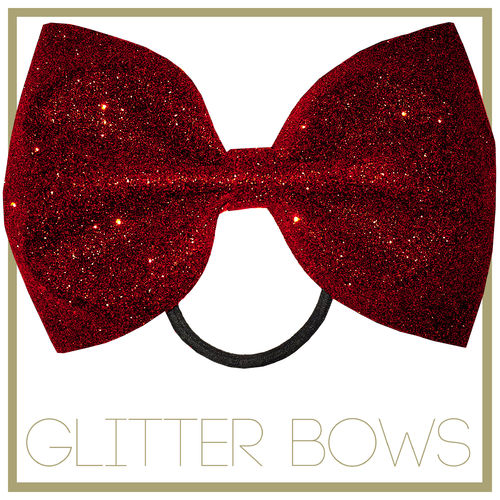 Glitter Bow Red