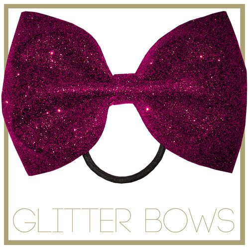 Glitter Bow Cherry Pink