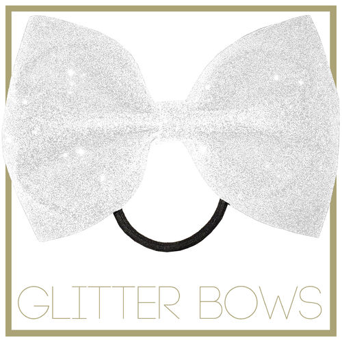 Glitter Bow Speckle White