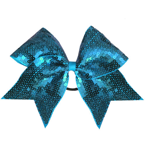 Full Sequin Turquoise Training Bow