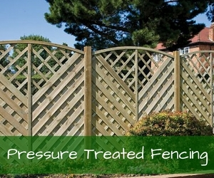 Pressure Treated Wooden Fence Panels