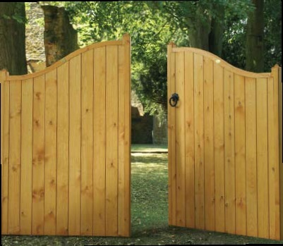 A Range of Tall Wooden Estate Gates